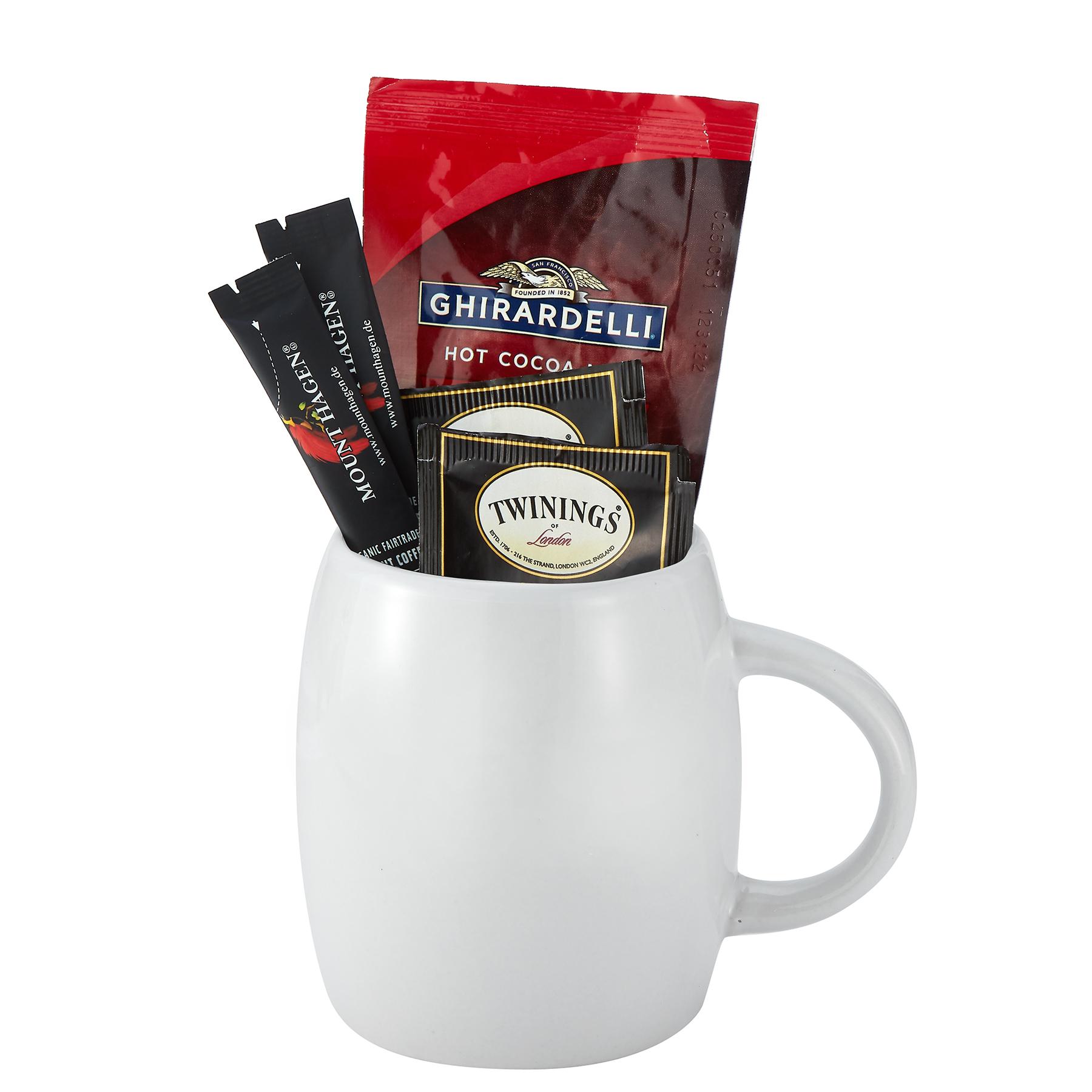 14 oz C-handle Ceramic Mug with Coffee Gift